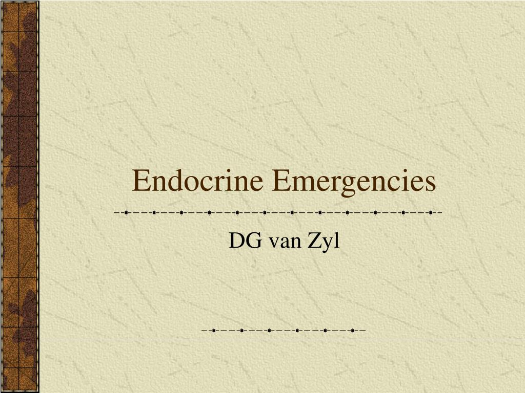 endocrine emergencies l.