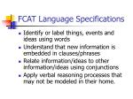 fcat language specifications