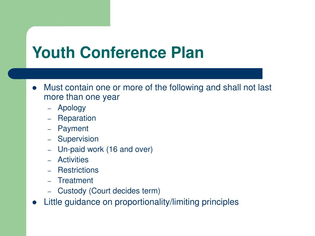 Youth Conference Plan