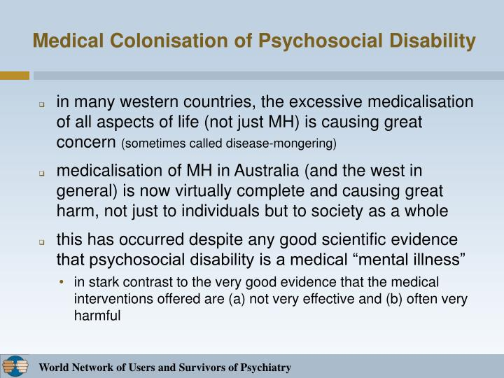 Medical Colonisation of Psychosocial Disability