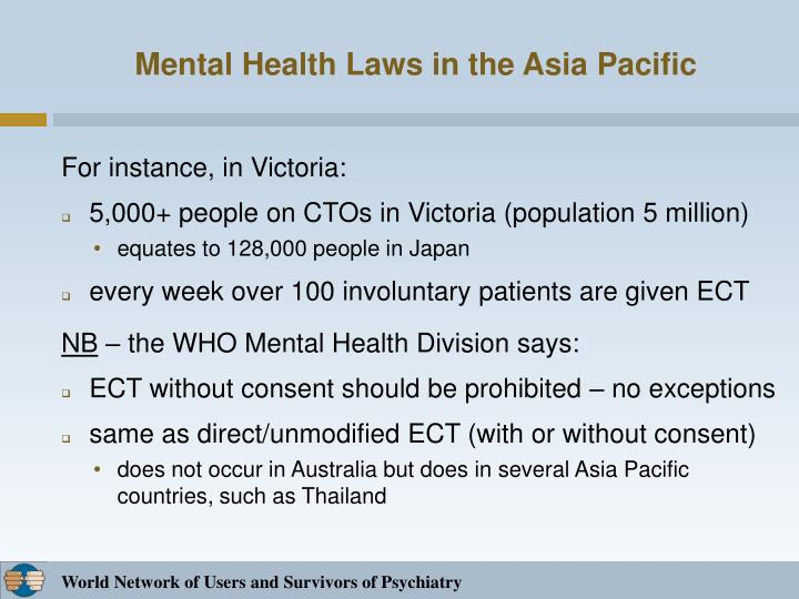 Mental health laws in the asia pacific1