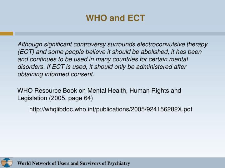 WHO and ECT