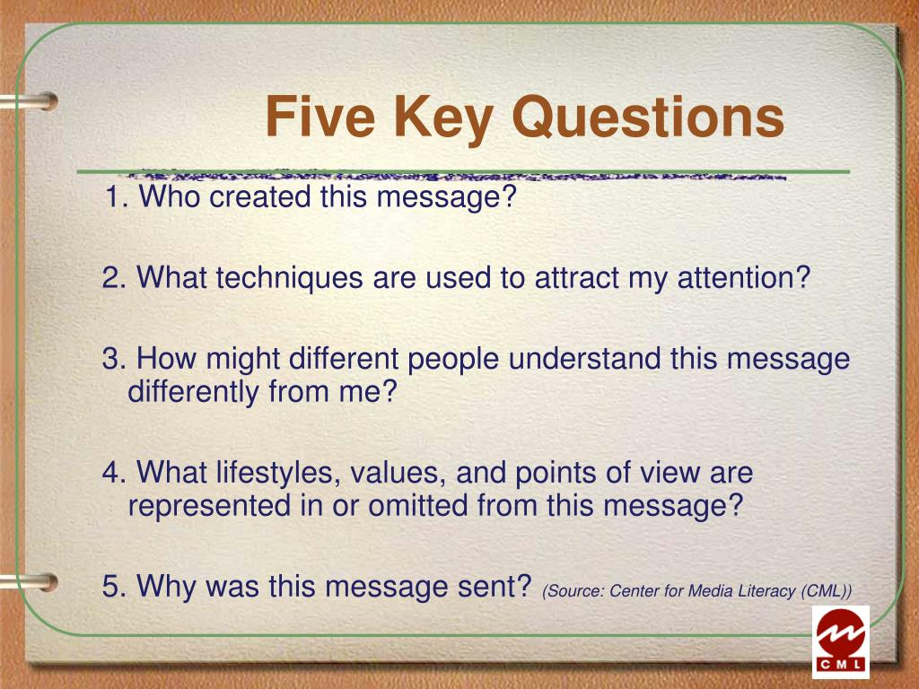 Five Key Questions