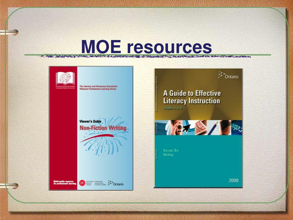 MOE resources