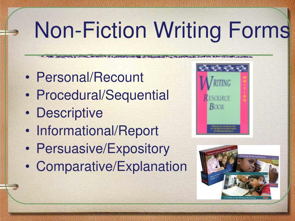 Non-Fiction Writing Forms