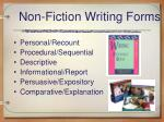 non fiction writing forms