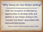 why focus on non fiction writing