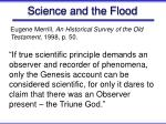 science and the flood