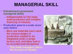 managerial skill