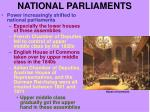 national parliaments