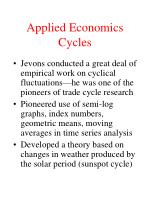 applied economics cycles
