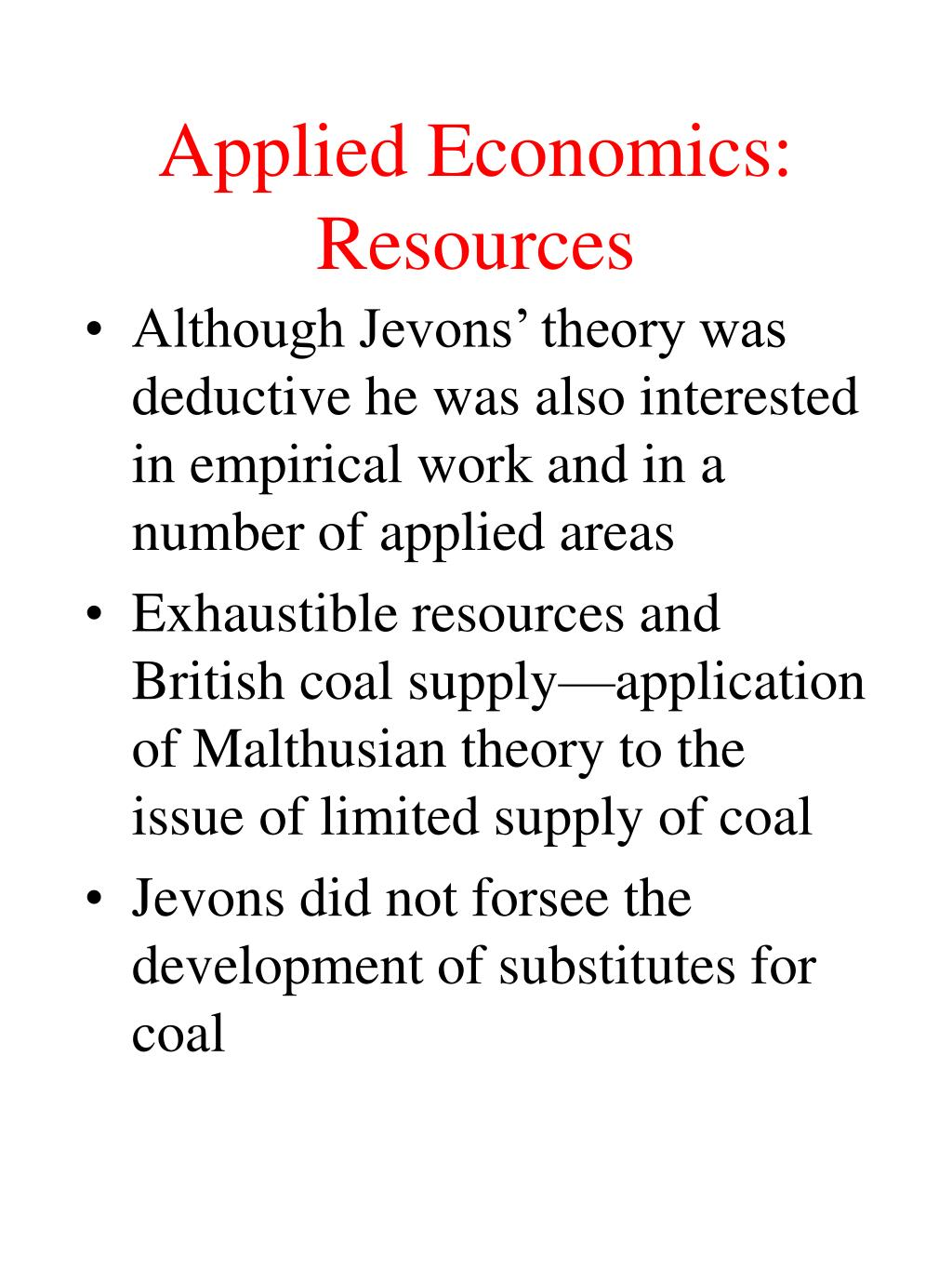 Applied Economics: Resources