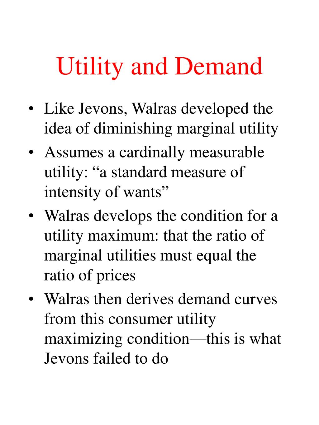 Utility and Demand