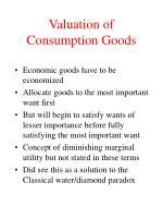 valuation of consumption goods4