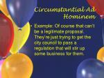 circumstantial ad hominem12