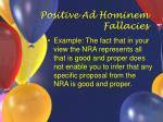 positive ad hominem fallacies20