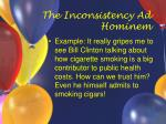 the inconsistency ad hominem9