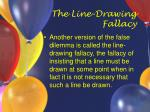 the line drawing fallacy