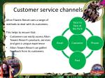 customer service channels
