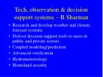 tech observation decision support systems b sharman