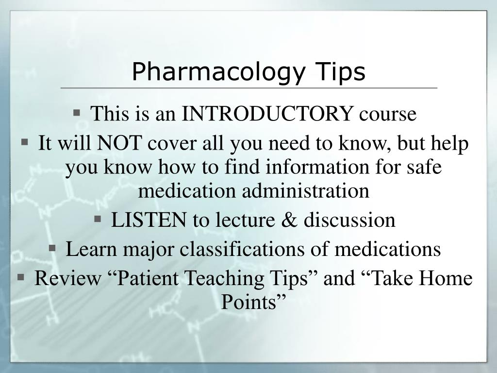 pharmacology tips l.