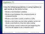 hyphens 7