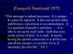evangelii nuntiandi 197511