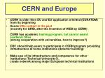 cern and europe