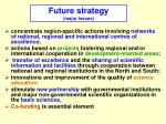 future strategy major issues