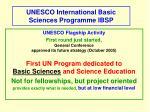 unesco international basic sciences programme ibsp