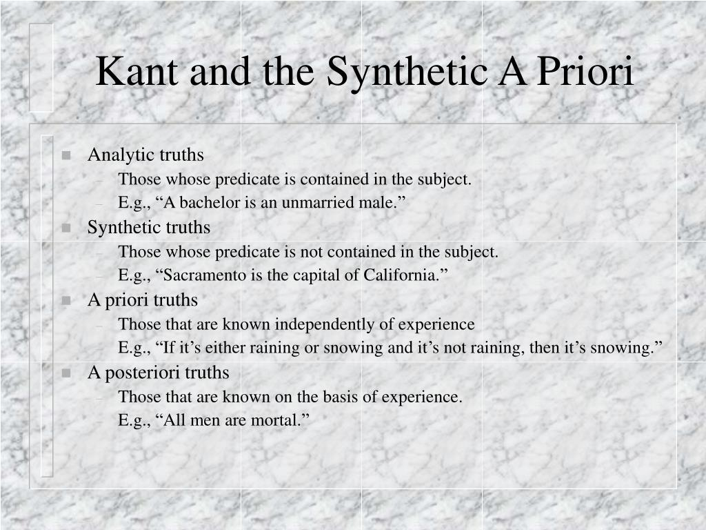 Kant and the Synthetic A Priori