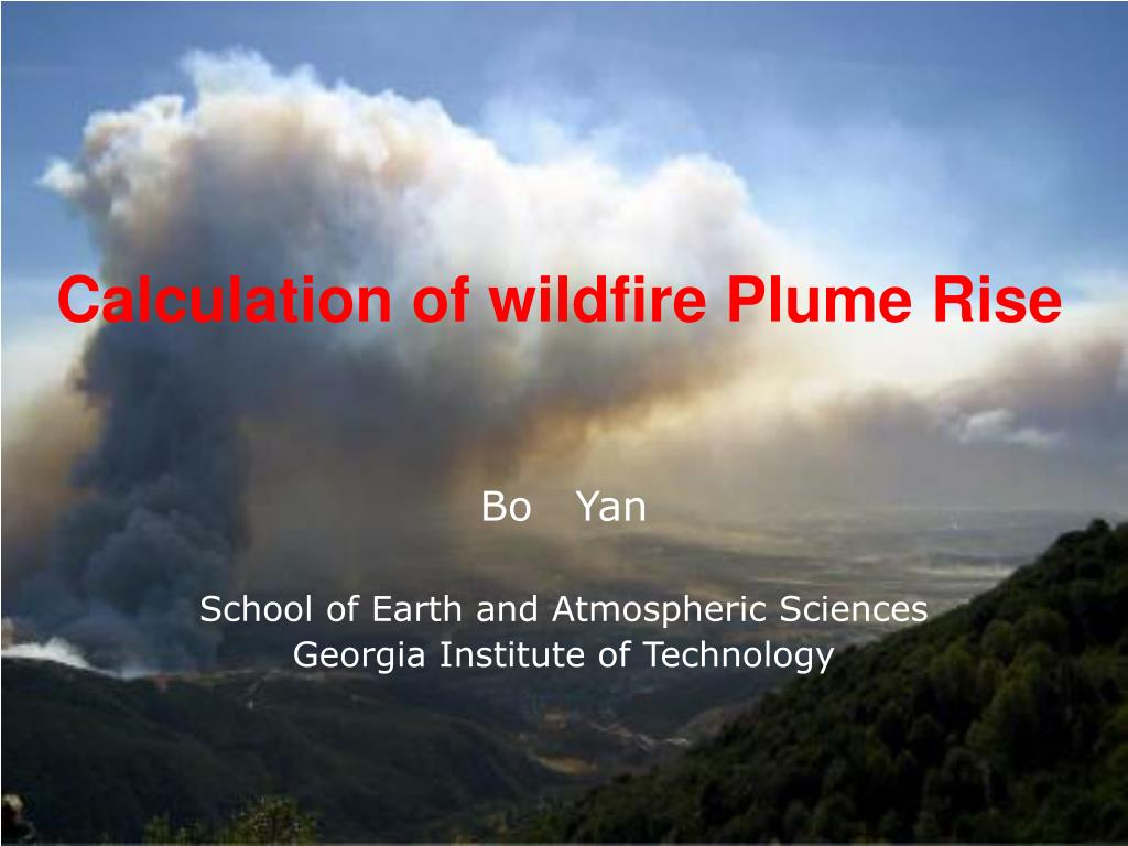 calculation of wildfire plume rise l.