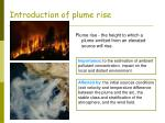 introduction of plume rise