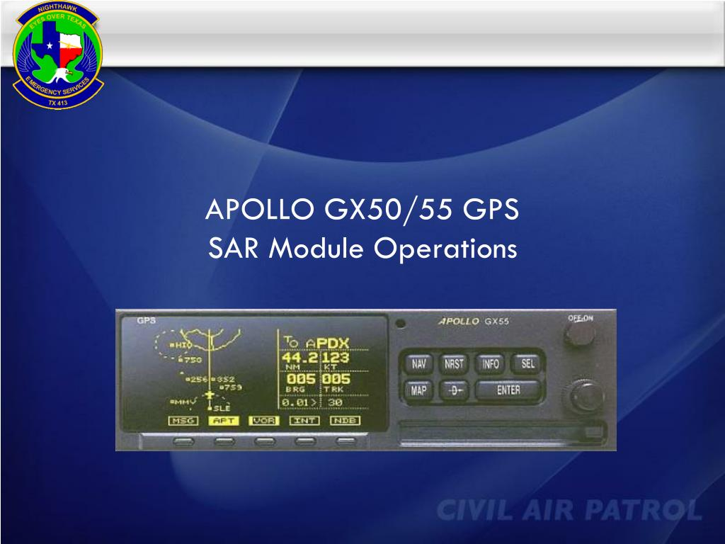 apollo gx50 55 gps sar module operations l.