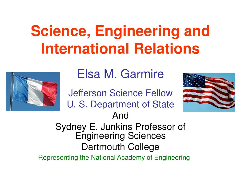 science engineering and international relations l.