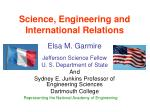 science engineering and international relations