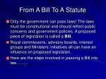 from a bill to a statute