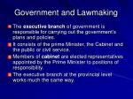 government and lawmaking