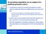 accounting regulation as an output of a political process cont31