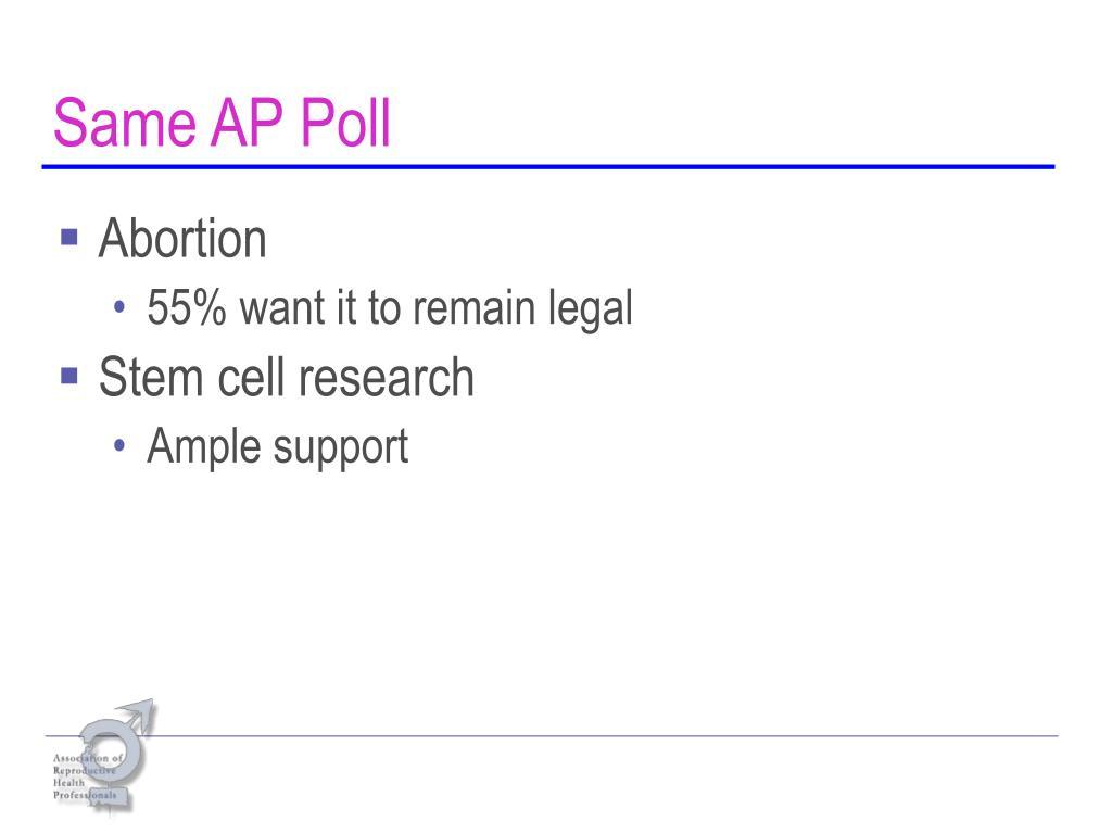 Same AP Poll