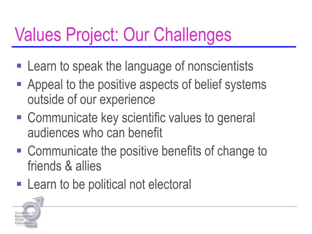 Values Project: Our Challenges