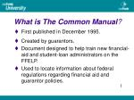 what is the common manual