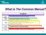what is the common manual3