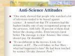 anti science attitudes