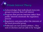 private interest theory