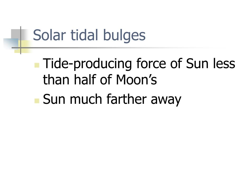 Solar tidal bulges
