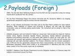 2 payloads foreign