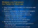 windows live framework our pattern for mash ups