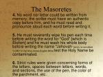 the masoretes