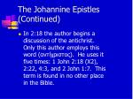 the johannine epistles continued12
